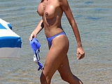 Hot Amateur Milf Photographed Topless At Beach