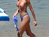 Sexy Wife On Beach