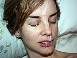 Cumshot Pictures of Amateur Girlfriend Getting a Big Facial