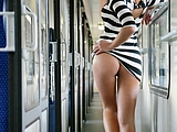 Blinkende Ass Pictures of Girl with Hot Ass in Public Train