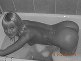 Bathroom Nude Pictures of Sexy Blonde Russian Girlfriend