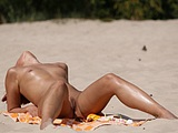 Nude at the Beach Pictures of Hot Redhead Pussy