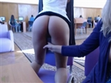 Two Cute Girls Undress Naked Flashing Ass and Pussy in Library
