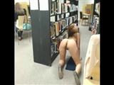 Public Library Fun Cute Girl Flashes Nude Ass on Camera