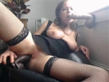 Sexy Babe in Lingerie Satisfies Herself with Dildo Cocks