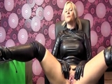 Porn at Home Hot German Girlfriend in Latex Dress Suck and Fuck