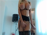 Super Hot Girl with Huge Boobs Doing Striptease on Cam