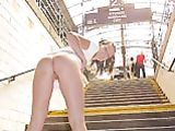 German Girlfriend Showing Ass on Stairs