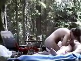 Amateur Sex Outdoors Couple Fucking in Woods