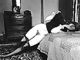 Vintage Photo Embarrassed Nude Female