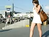 Hot Upskirt Video Girlfriend Filmed Voyeur in Public Place