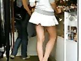 Candid Voyeur Video Hot Girlfriend in Small Upskirt Filmed