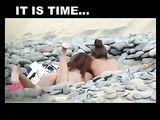 Nackt am Strand-Video