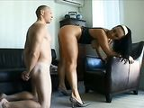 Submissive BDSM Role Play Tied up Boyfriend Licks Gf Pussy