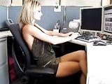 Horny sexy secretary needs a fuck for better productivity