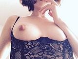 Cute looking girl revealing nude on camera