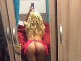 Sexy blonde chick doing her usual nude photo routine