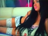 Beautiful Russian CamGirl Makes Striptease on Webcam