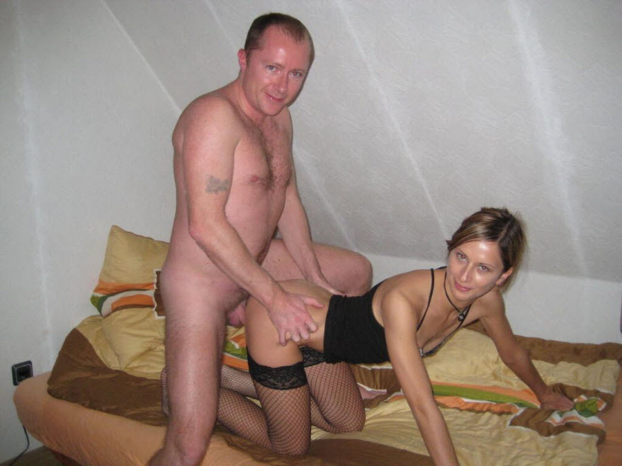 Husband fucking wife hard in bed