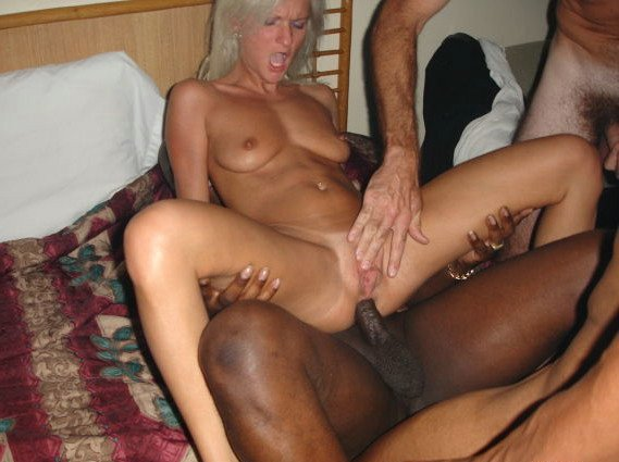 She very black cock over white pussy hot