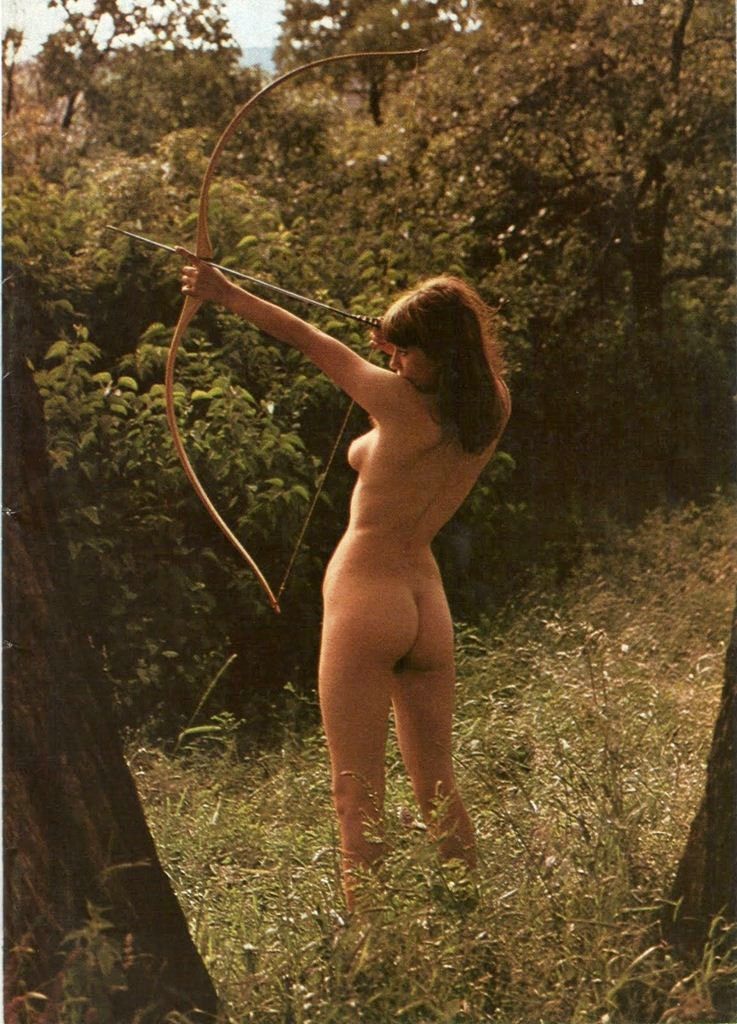 Nude Female Archer She Cannot Shoot Very Good Otherwise