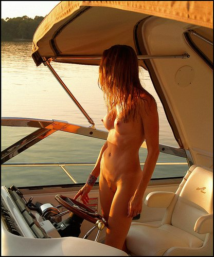 Nude Pussy on a Boat Photo