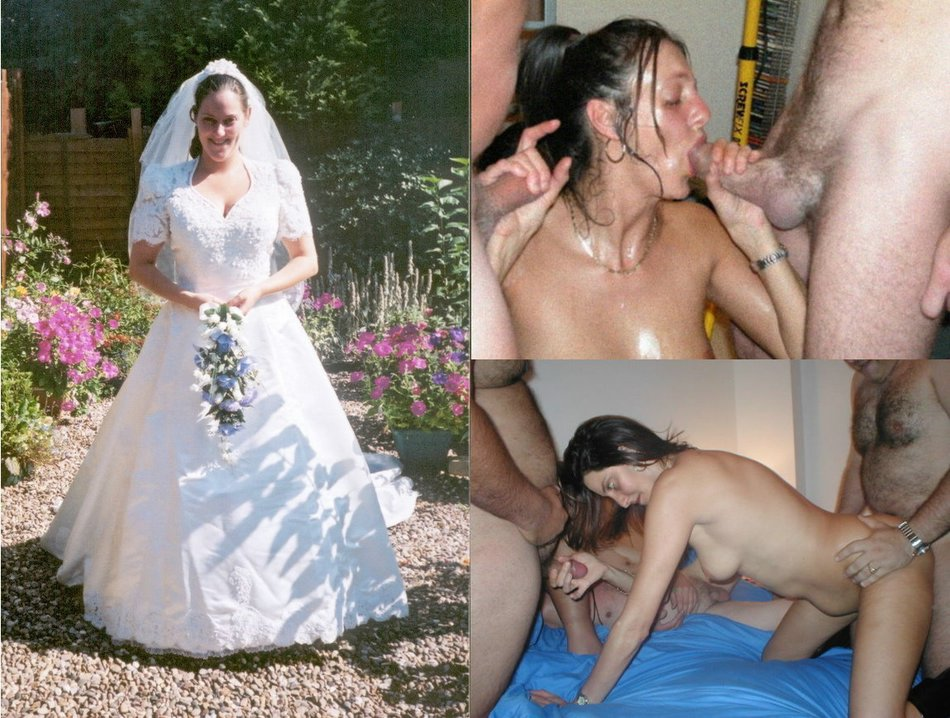 Me? real amateur brides dressed and undressed congratulate, this