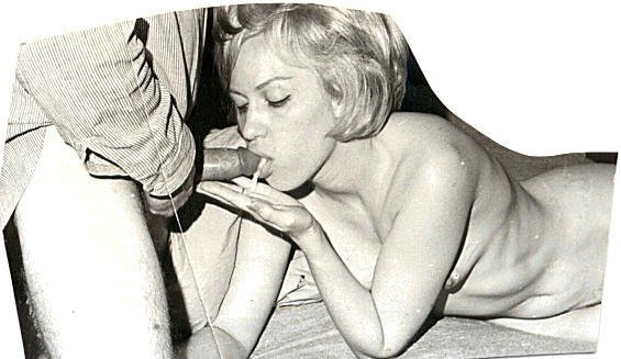 Vintage black and white blowjob