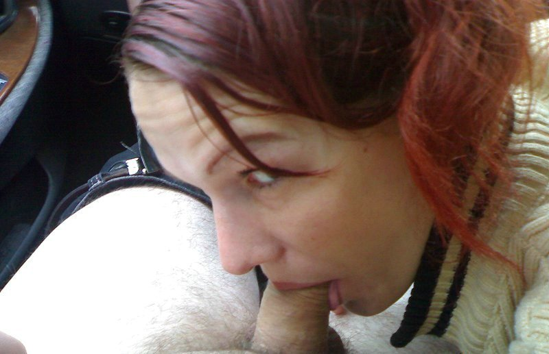 Hot Babe Gives Blowjob While In The Car Pictures