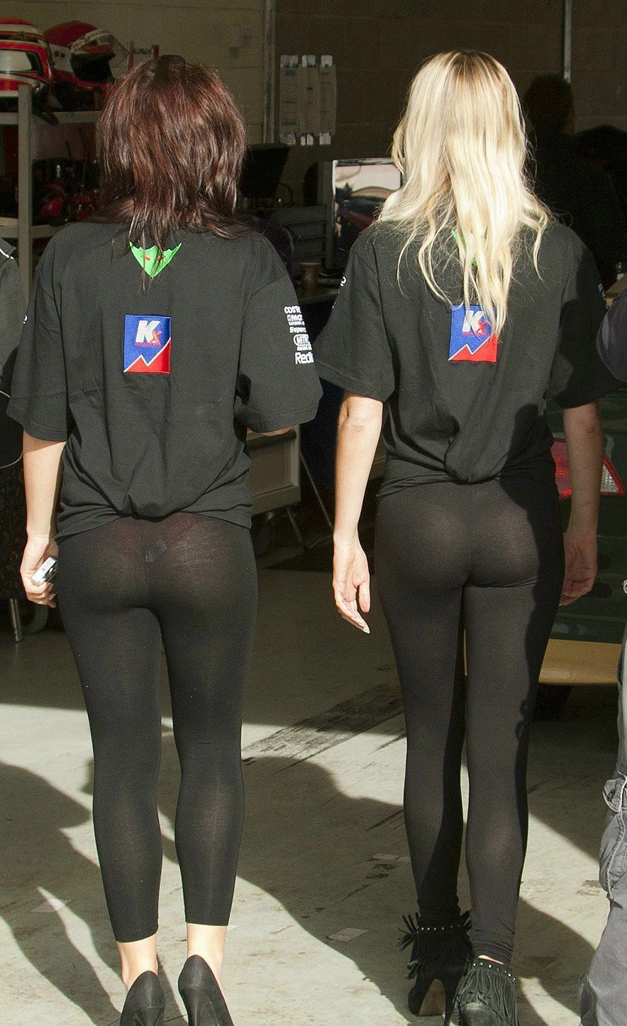 Girls in see through yoga pants having sex